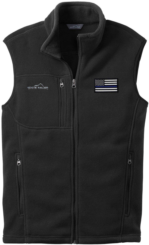 Eddie Bauer American Flag Blue Line Fleece Vest EB204