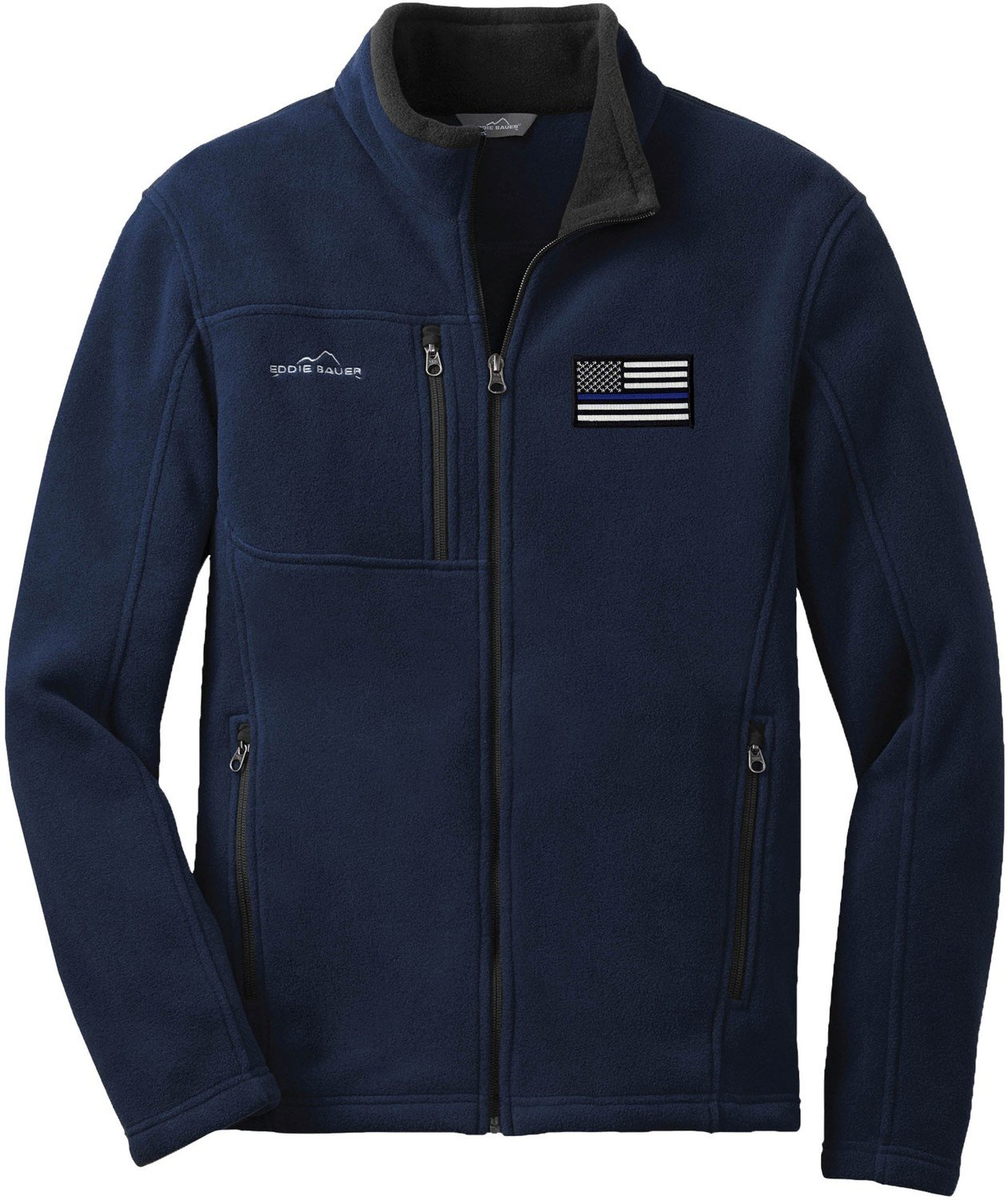Eddie Bauer American Flag Blue Line Fleece Full Zip EB200