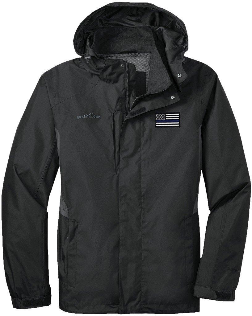 Eddie Bauer American Flag Blue Line Rain Jacket EB550