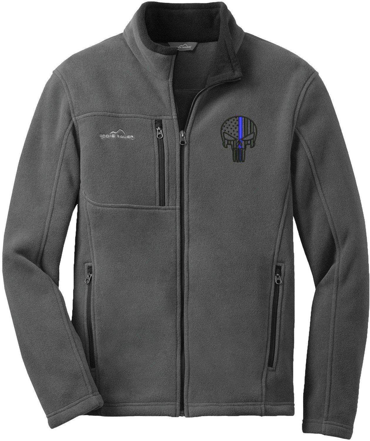 Eddie Bauer Punisher Blue Line Full Zip Fleece Jacket EB200