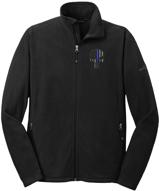 Eddie Bauer Punisher Blue Line Microfleece Jacket Full Zip EB224