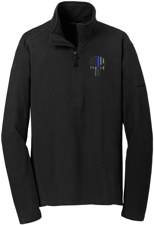 Eddie Bauer Punisher Blue Line Micro Fleece Jacket 1/4 Zip EB226