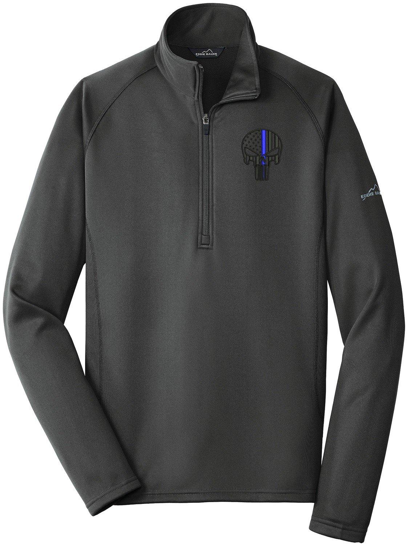 Eddie Bauer Punisher Blue Line Fleece Base Layer 1/4 Zip EB236