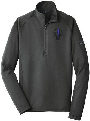 Eddie Bauer Punisher Blue Line Fleece Base Layer 1/4 Zip EB236