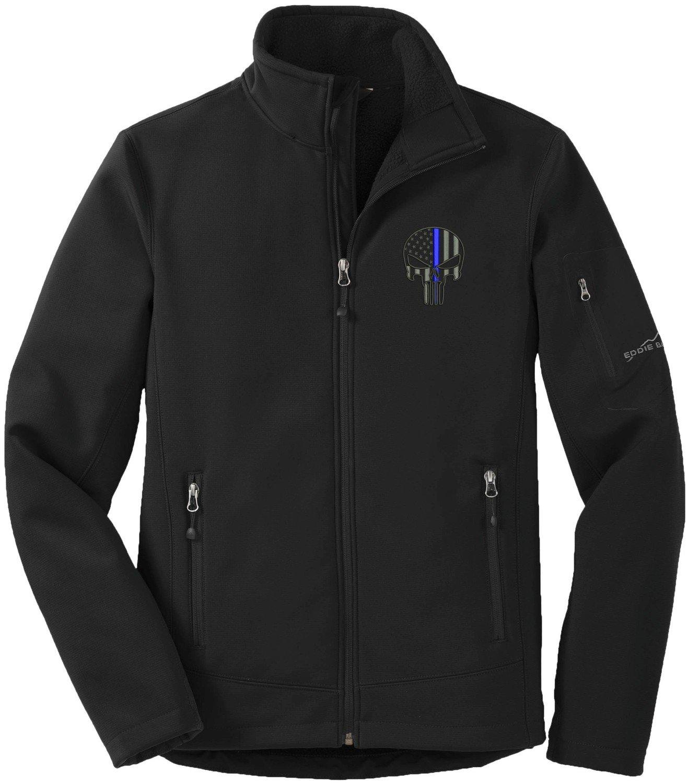 Eddie Bauer Punisher Blue Line Soft Shell Jacket Rugged Ripstop EB534