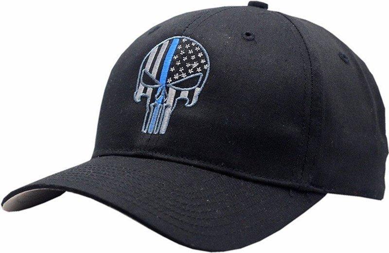 Punisher Blue Line Adjustable Hat