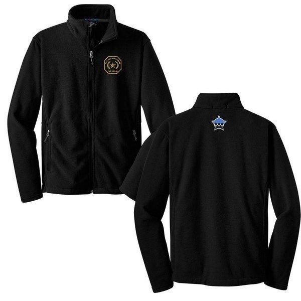 Gold Star Full Zip Fleece Jacket W/Embroidered Logo Black F217