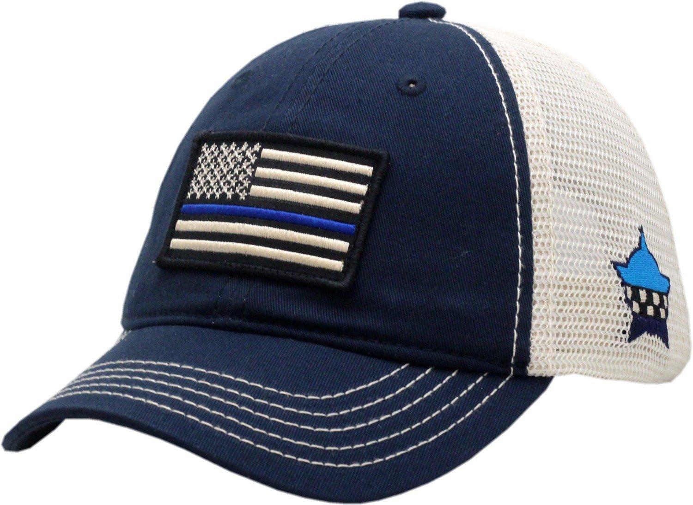 Blue Line American Flag Trucker Mesh Slouch