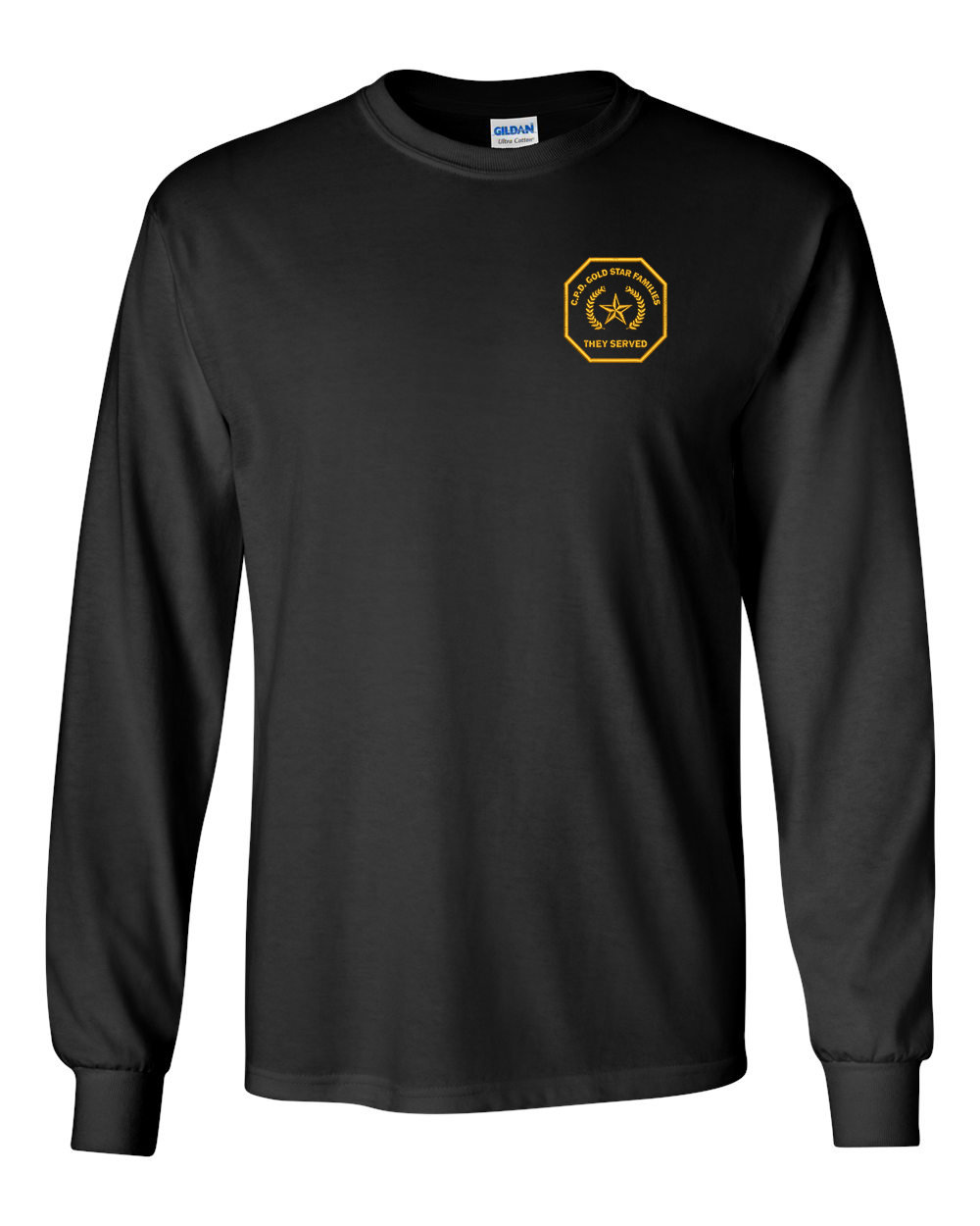 Gold Star Family Long Sleeve Embroidered T-Shirt 2400