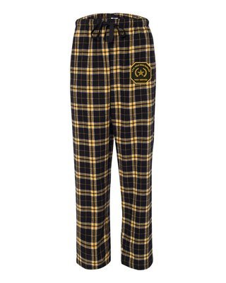 Gold Star Family Flannel Pants W/Embroidered Star