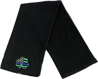 Shamrock American Flag Blue Line Knit Scarf