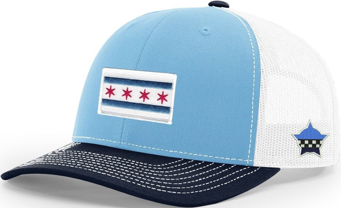 Chicago Flag Snapback Trucker Mesh Columbia/Navy/White