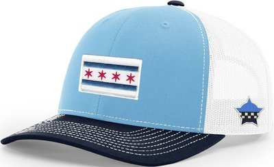 Chicago Flag Snapback Trucker Mesh Columbia/Navy/White