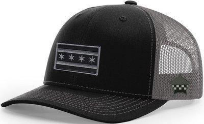 Chicago Flag Snapback Trucker Mesh Black/Grey