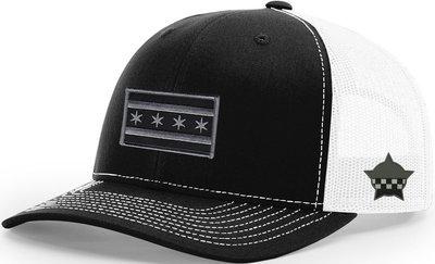 Chicago Flag Snapback Trucker Mesh Black/White