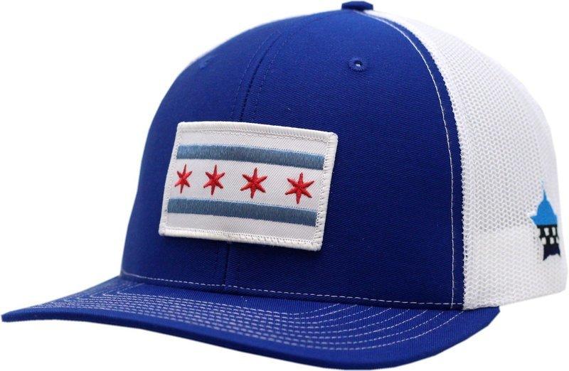 Chicago Flag Snapback Trucker Mesh Royal/White
