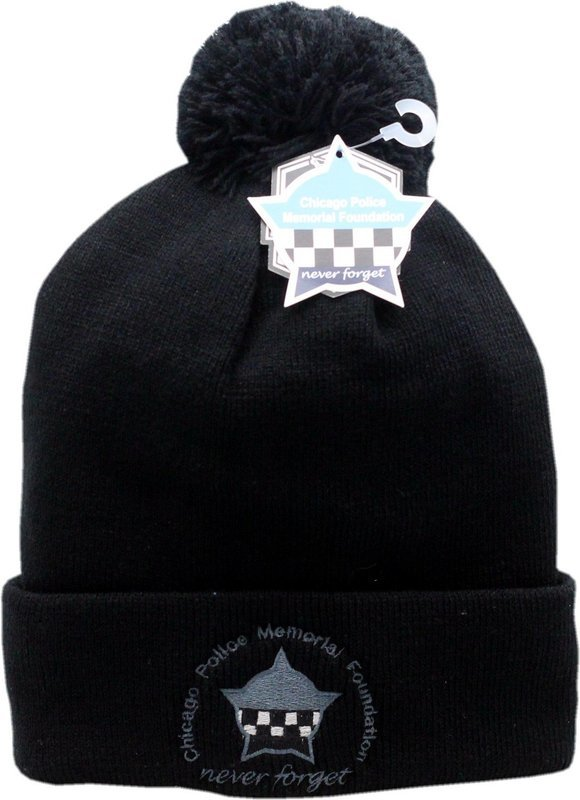 CPD Memorial Foundation Cuffed Pom Knit Hat