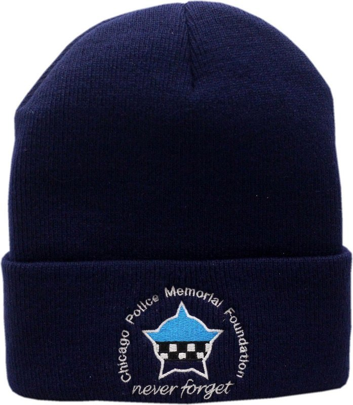 CPD Memorial Foundation Cuffed Knit Hat Navy