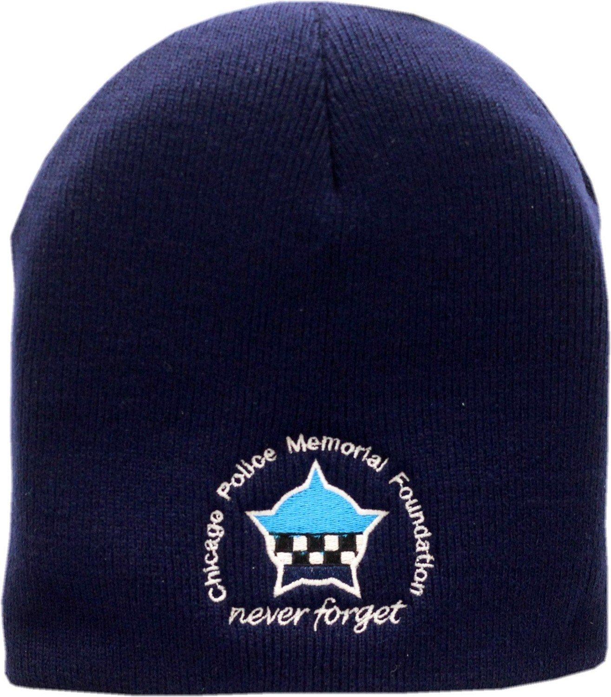 CPD Memorial Foundation Skull Knit Hat Navy