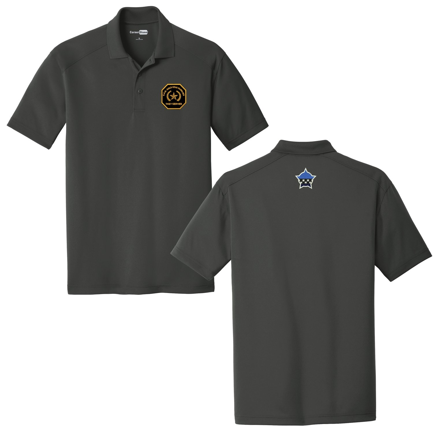 Gold Star Family Select Lightweight Snag-Proof Polo Charcoal CS418