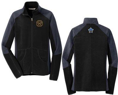 Gold Star Family Ladies Colorblock Microfleece Jacket Black/Grey L230