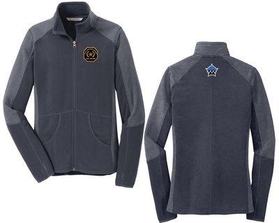 Gold Star Family Ladies Colorblock Microfleece Jacket Grey/Grey L230