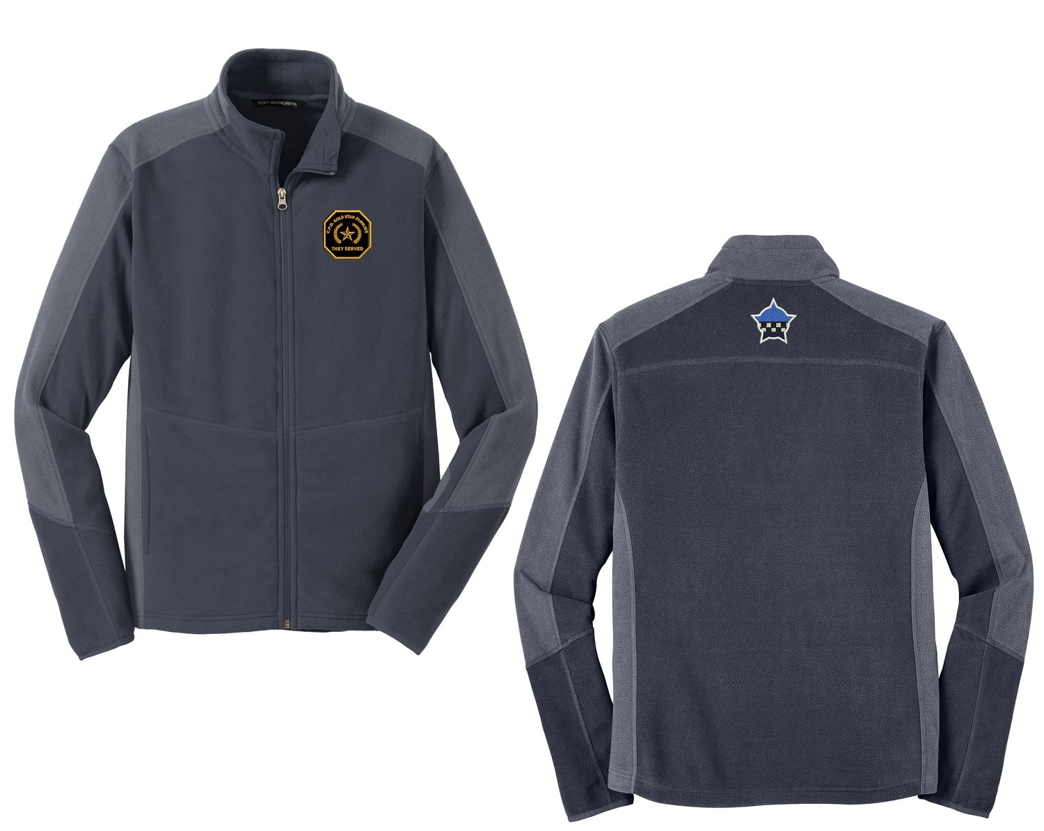 Gold Star Family Colorblock Microfleece Jacket Grey/Grey F230