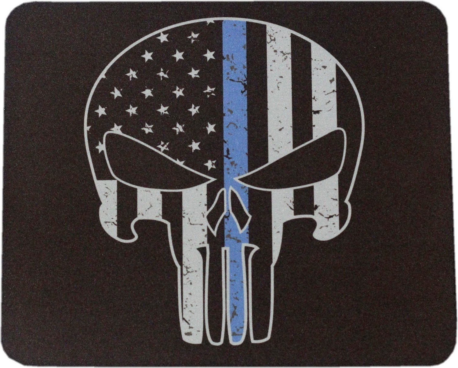 Punisher Blue Line Mouse Pad Sublimated