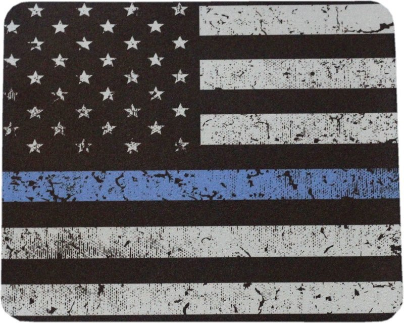 American Flag Blue Line Mouse Pad Sublimated