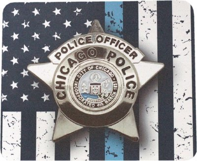 CPD Star Blue Line Mouse Pad Sublimated