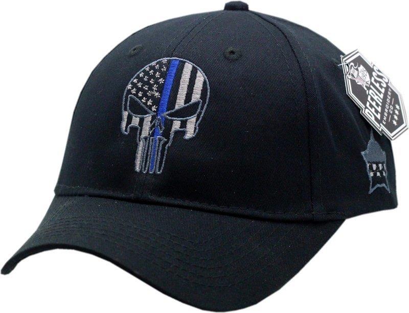 Punisher Blue Line Youth Adjustable Hat