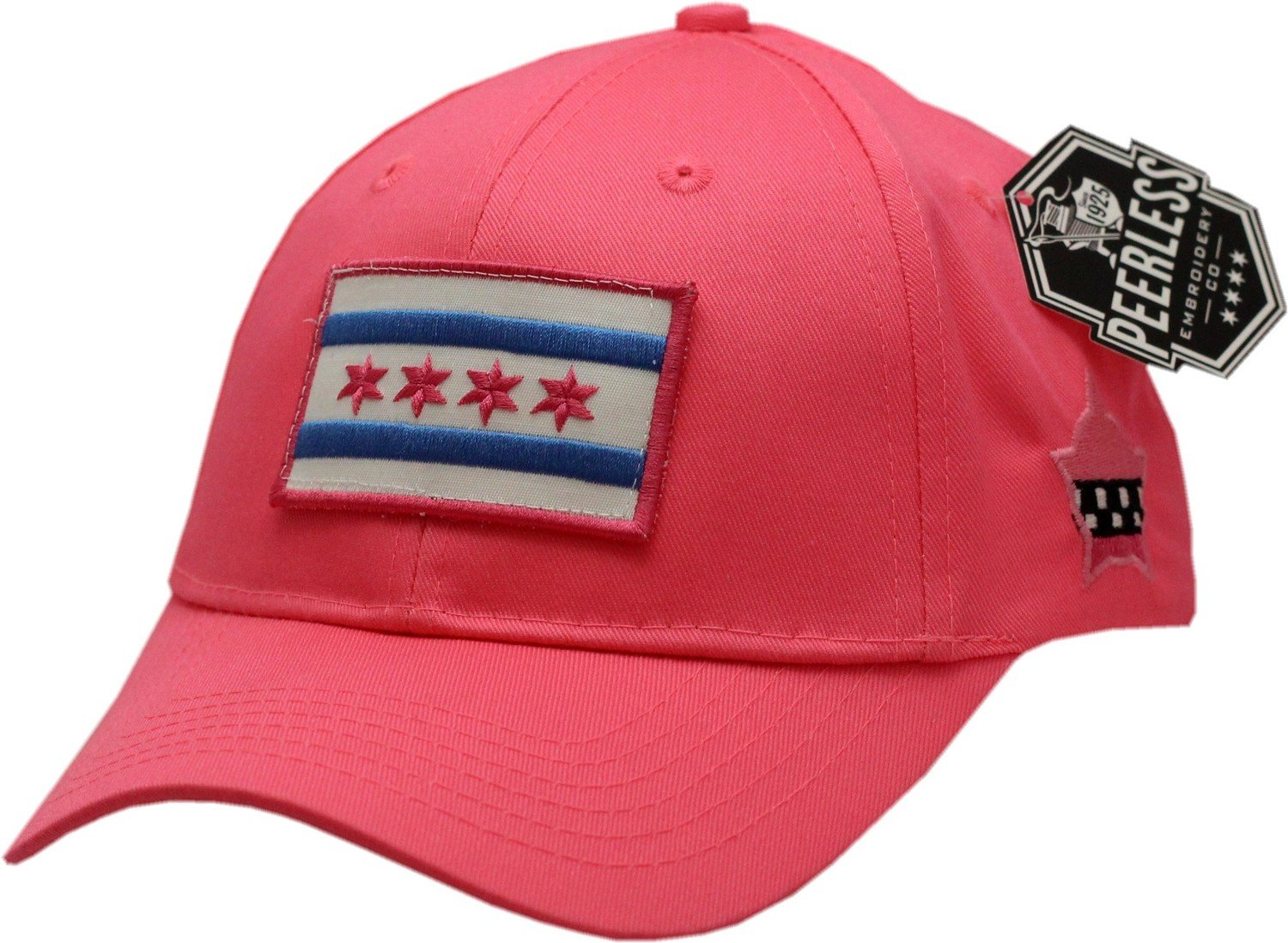 Chicago Flag Youth Hat Pink Adjustable