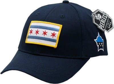 Chicago Flag Youth Adjustable Hat Navy