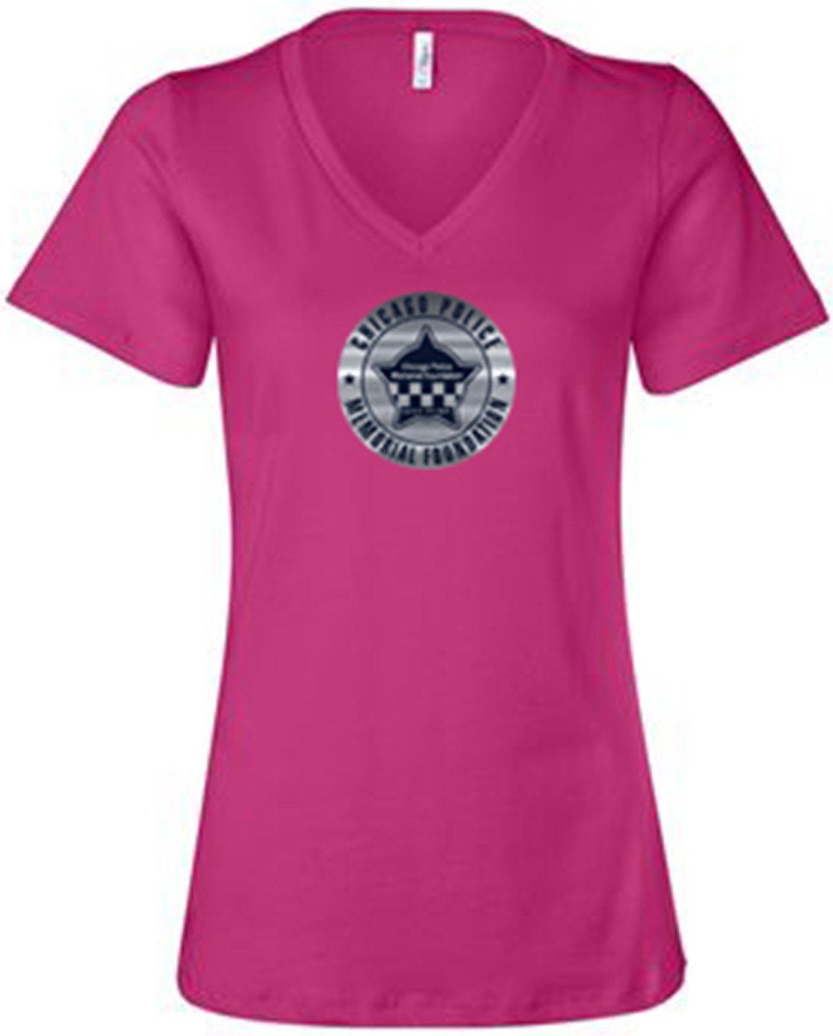CPD Memorial Ladies Relaxed Jersey Pink V-Neck