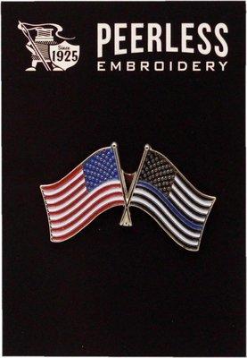 Blue Line & American Flag Pin
