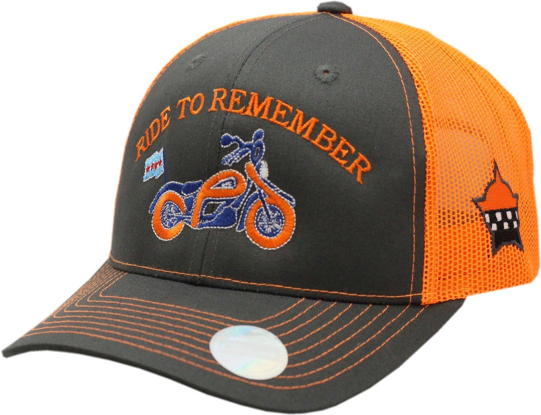 Ride To Remember Trucker Mesh Snapback Grey/Orange