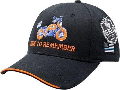 Ride To Remember Hat Adjustable Strap Black/Orange