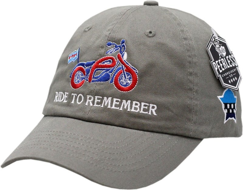 Ride To Remember Hat Slouch Buckle Back Hat Olive