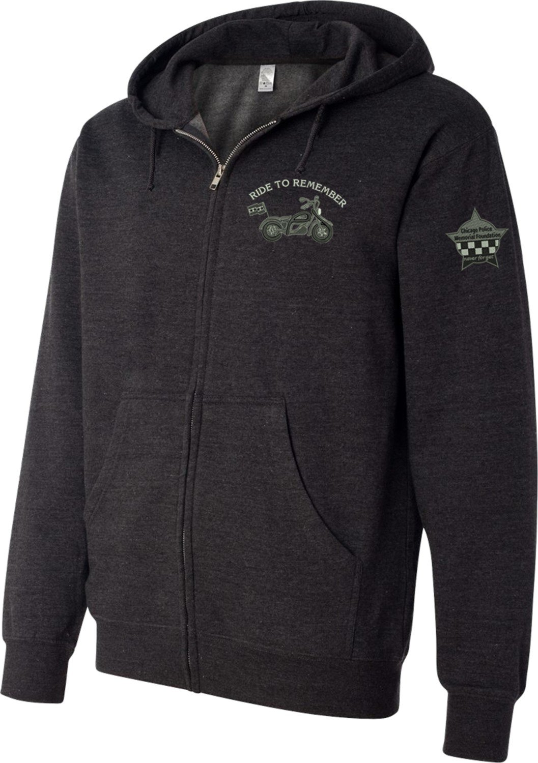 Ride To Remember Midweight Hooded Full-Zip Sweatshirt SS4500Z