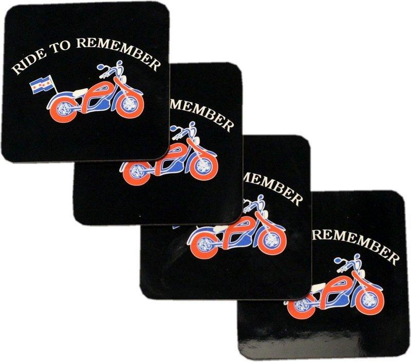 Ride To Remember Set of 4 Coaster Set