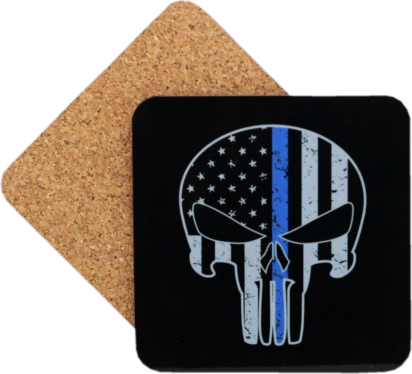 Punisher Blue Line Coaster Set Of 4