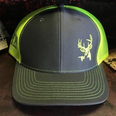 Deer Side Grey/neon Yellow (trucker)