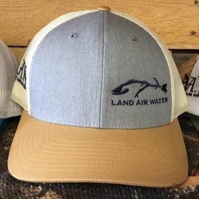 Fish Side Mustard On Jean Grey/Khaki (trucker)