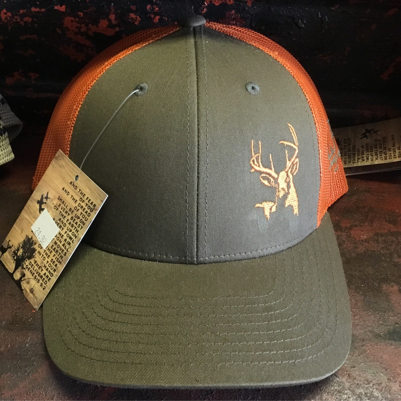 Deer Side Olive Green/Rustic Orange (trucker)