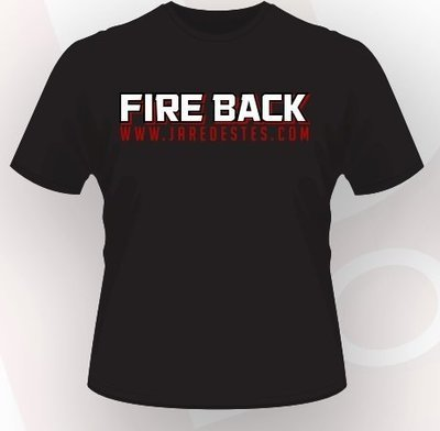 Fire Back T-Shirt - This is a Rebellion- Black