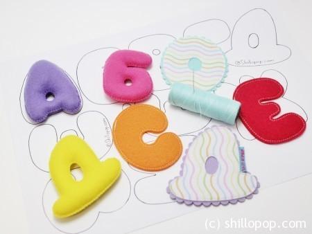 Декоративные буквы и цифры из фетра