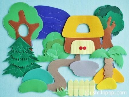 Ландшафт игрушки на липучках для ковролинографа
