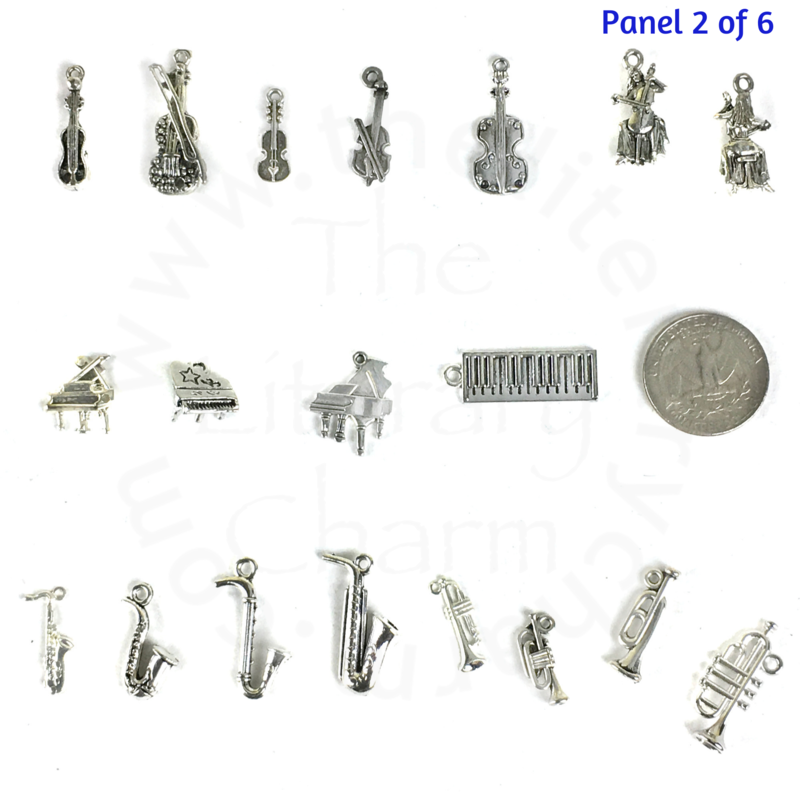 Crown CPPT   Pattern Bookmark 3D English pewter charm
