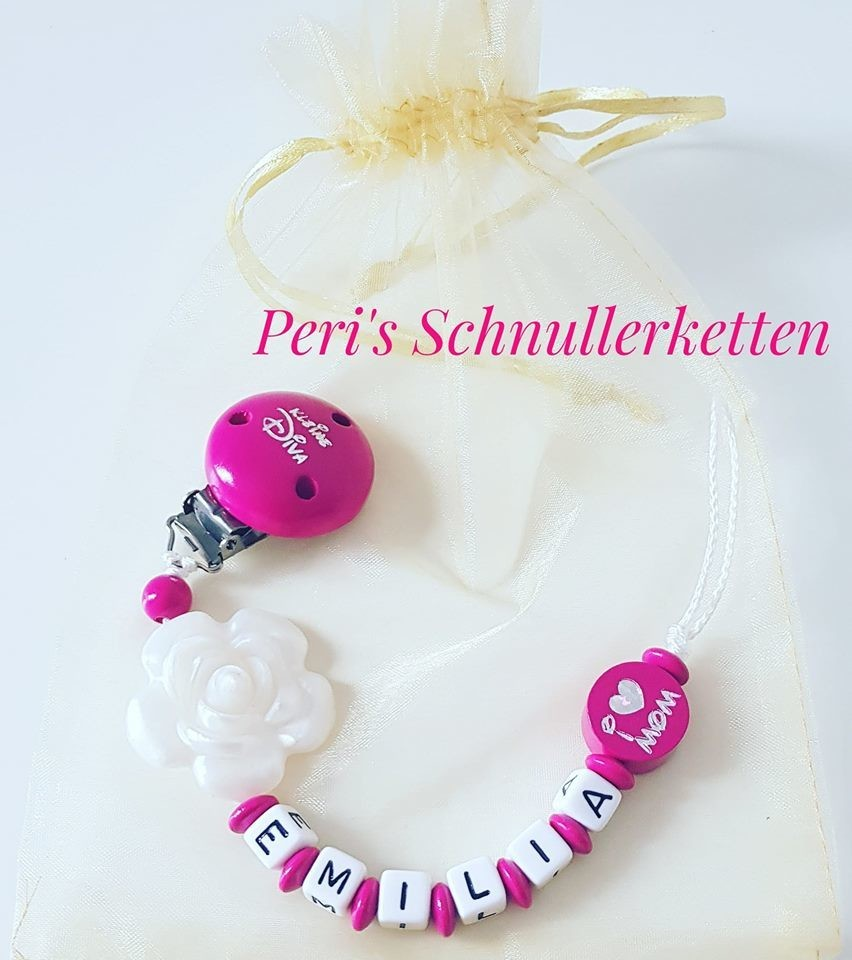 Schnullerkette Rose