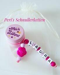 Milchzahndose Blume rosa/pink,